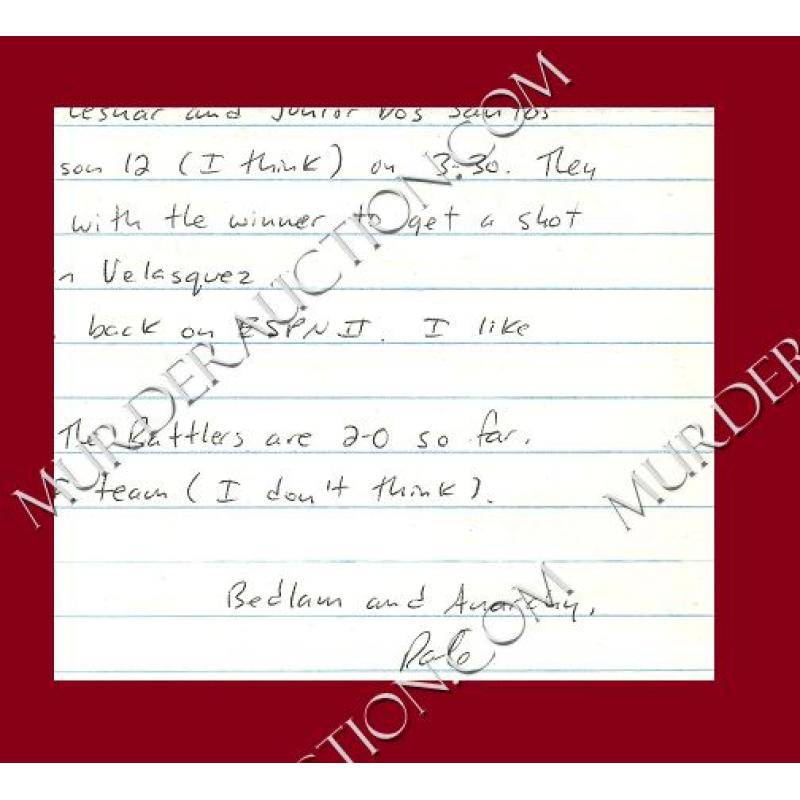 DALE HAUSNER letter/envelope 3/23/2011 DECEASED