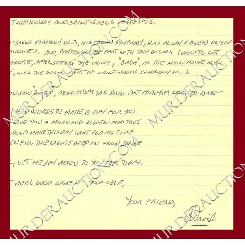 DAVID CARPENTER letter 4/11/2001
