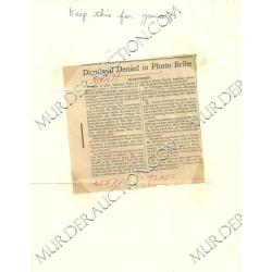 DAVID BERKOWITZ letter/envelope 5/30/1979