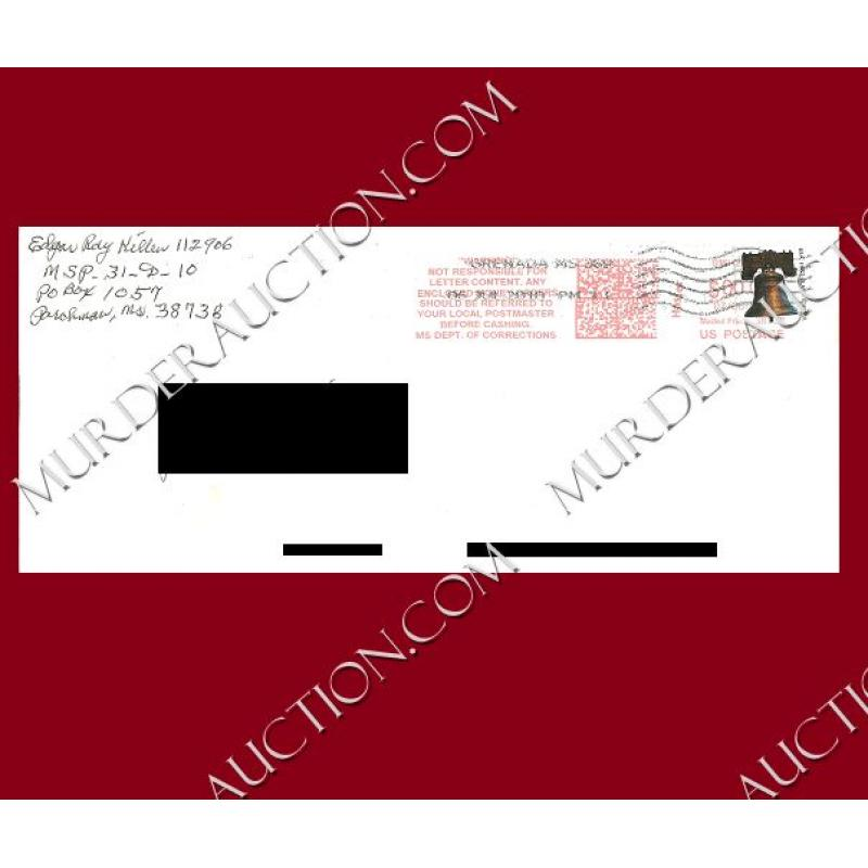 EDGAR RAY KILLEN letter/envelope 7/3/2010 DECEASED