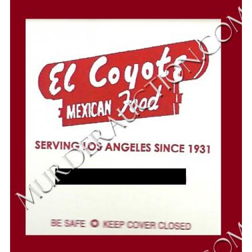 EL COYOTE MEXICAN FOOD matchbook Sharon Tate/Charles Manson