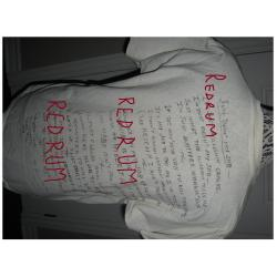 Douglas Clark Prison T-Shirt worn in San Quentin Prison signed from 1998