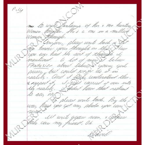 DAVID GORE letter/envelope 4/26/1997 EXECUTED