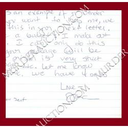DANA GRAY letter/envelope 12/21/2005