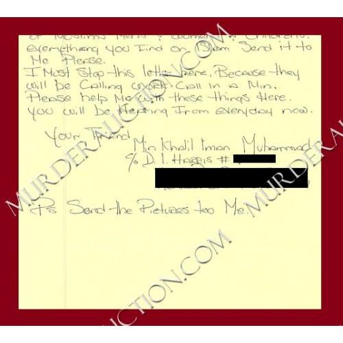 DEWAYNE LEE HARRIS letter/envelope 4/3/2006