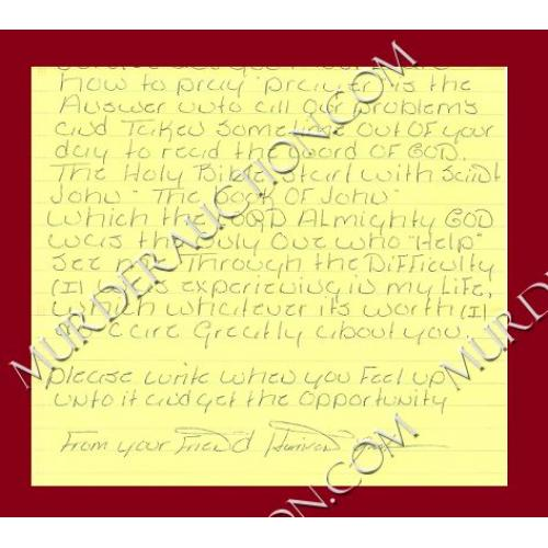 Harrison Graham letter/envelope 7/18/1997