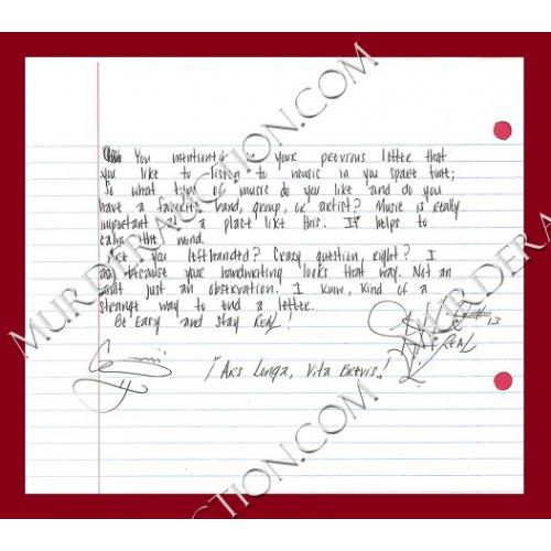JERONE HUNTER letter/envelope 8/30/2011