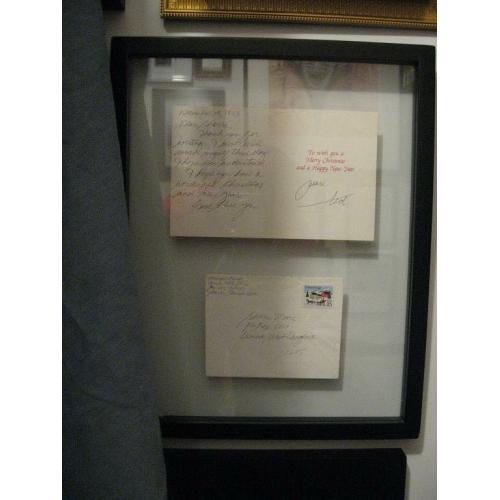 Executed- Theodore Bundy handwritten christmas card with envelope from 1988