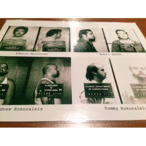 Chicago Rippers all four b & w mugshots from 1992-1993 - No Reserve!