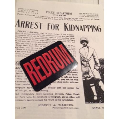 Grace Budd Arrest for kidnapping poster - New York Police Department 1928