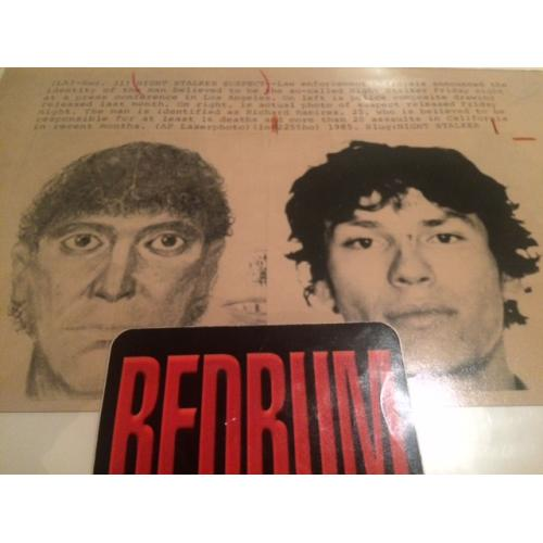 Richard Ramirez Press Photograph 6.5 x 10 sketch comparison stamped from 1985