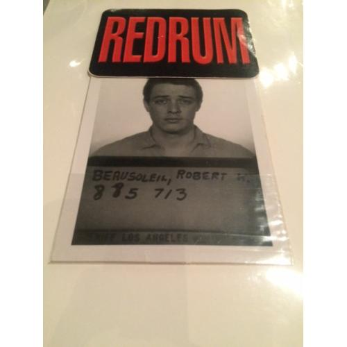 Bobby BeauSoleil 3.5 x 5 original mugshot from August 1969