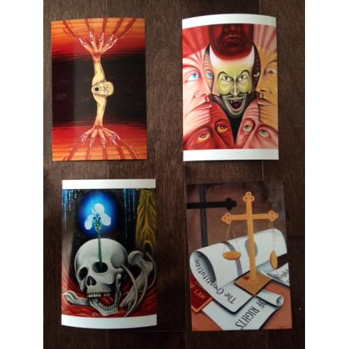   Jack Kevorkian 5 prints 4 x 6 from paintings done by 2004 -  PART 2