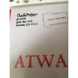 Charles Manson ATWA signed in full Charles Milles Manson