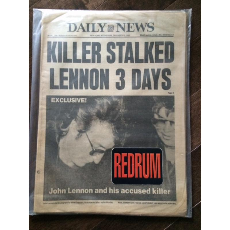 Daily News New York complete newspaper Wednesday December 10 , 1980