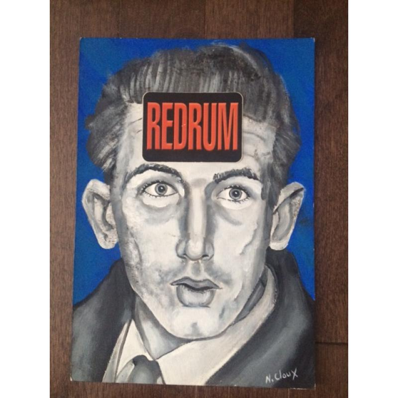 Nico Claux 9 x 12 painting portrait of Richard Speck done while he was in prison from 1998-2000