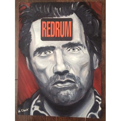 ​Nico Claux 9 x 12 painting portrait of Gary Heidnik done while he was in prison from 1998-2000