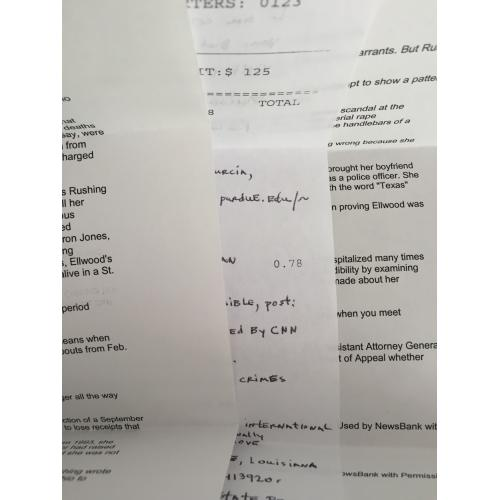 SERIAL KILLER RUSSELL ELLWOOD HANDWRITTEN LETTER + ENVELOPE AND SERIAL KILLER PRINT OUT