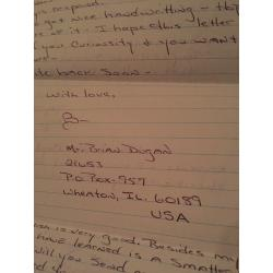 SERIAL KILLER BRIAN DUGAN 4 PAGE LETTER   ENVELOPE COMES WITH UNIVERSITY PAPERS