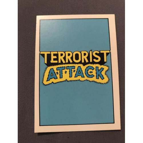 Terrorist Attack piedmont Candy card no.1 from 1987