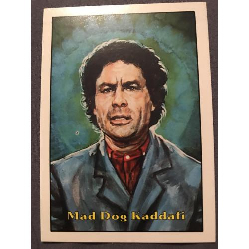 Terrorist Attack Mad Dog Kaddafi piedmont Candy card no.3 from 1987