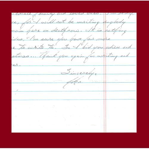 JOHN KING letter/envelope 11/23/2008 EXECUTED