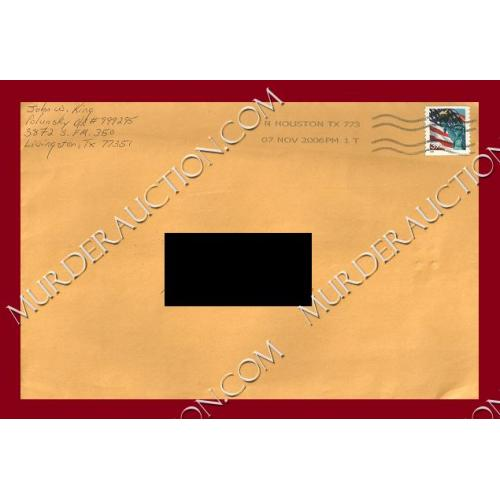 JOHN KING envelope 11/7/2006 6×9 EXECUTED