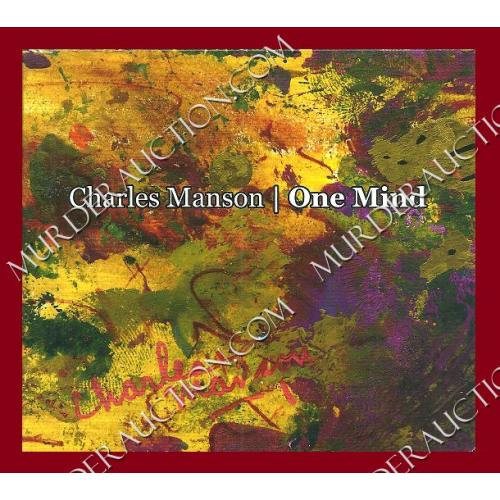 CHARLES MANSON One Mind CD (reissue)