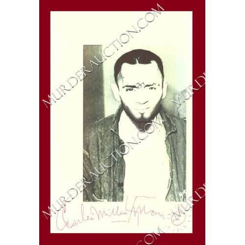 CHARLES MANSON signed photo DECEASED
