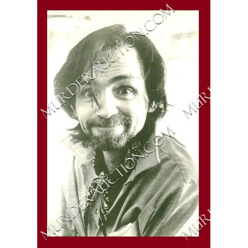 CHARLES MANSON photograph (big smile) 4×6 DECEASED