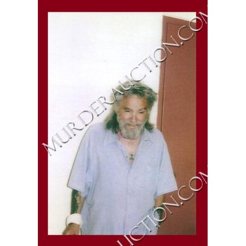 CHARLES MANSON photograph 4×6 (Thor's Hammer) DECEASED