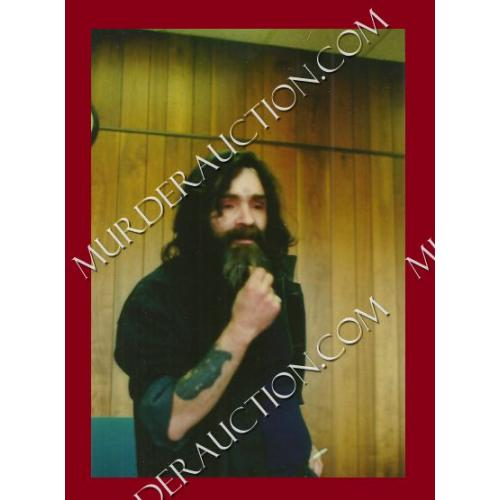 CHARLES MANSON photograph 3.5×5 DECEASED