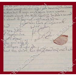 JOE METHENY letter/envelope 2/5/2007 DECEASED