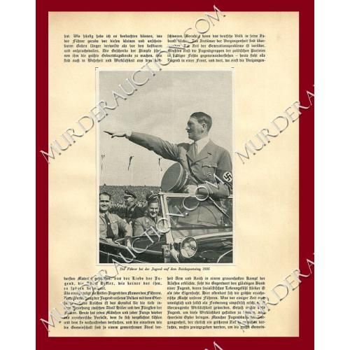 ADOLF HITLER photos on Nazi literature