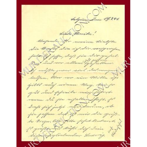 NAZI GERMANY WWII field post letter/envelope 4/19/1941