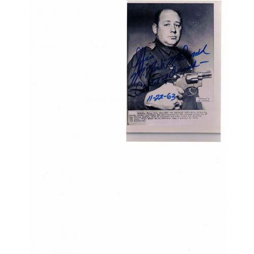 M. Nick McDonald - captured Lee Harvey Oswald - Signed B&W Photo