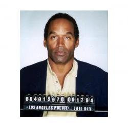 O.J Simpson limited 19 x 25 uncut trading card sheet signed and dated from 1995