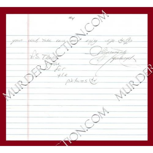 MIGUEL ANGEL PAREDES letter/envelope 2/11/2010 EXECUTED