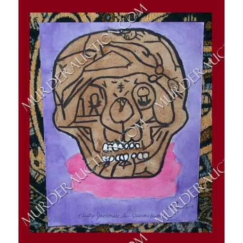 Phillip Jalonski Sex Skull painting 9×12 DECEASED