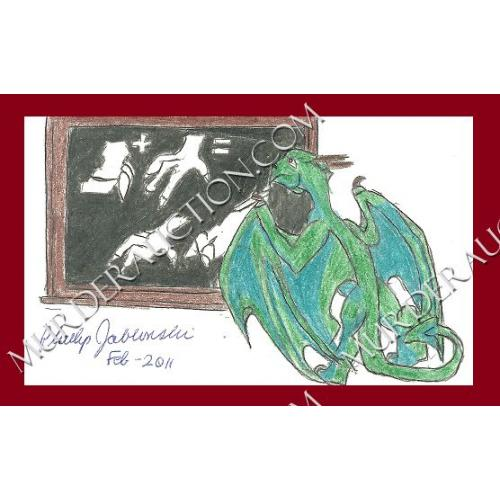 PHILLIP JABLONSKI small dragon drawing 2011 DECEASED
