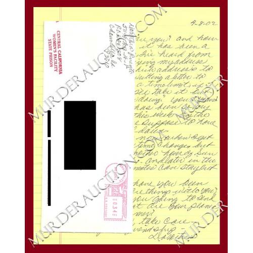 DOROTHEA PUENTE letter/envelope 4/8/2002 DECEASED