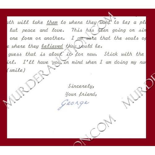 GEORGE PUTT letter/envelope 5/4/1997 DECEASED