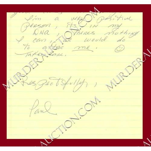 PAUL REID letter/envelope 4/4/2006 DECEASED