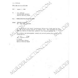 CHARLES MANSON/BOYD RICE San Quentin arrest report 8/6/1986