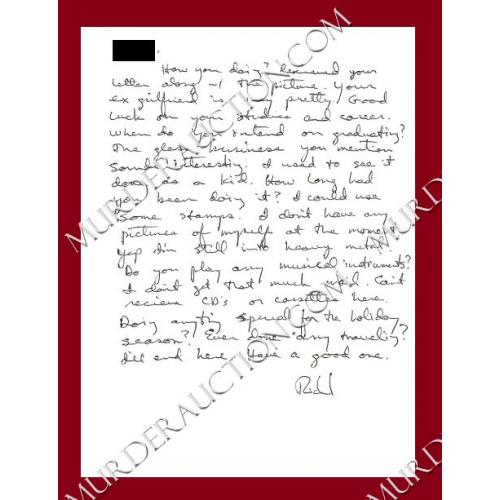 RICHARD RAMIREZ letter/envelope 11/15/1992  DECEASED