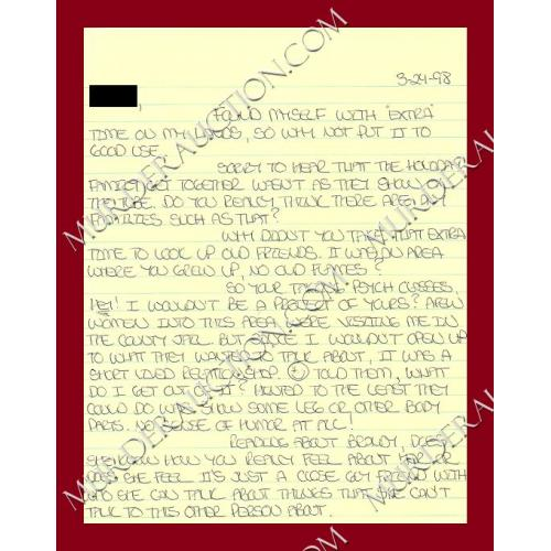Richard Allen Davis letter/envelope 13/24/1998
