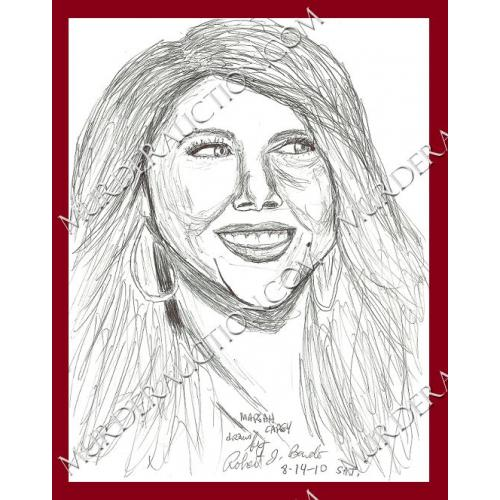 ROBERT BARDO Mariah Carey drawing 8/14/2010