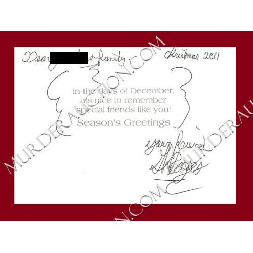 Glen Rogers card/envelope 12/9/2011