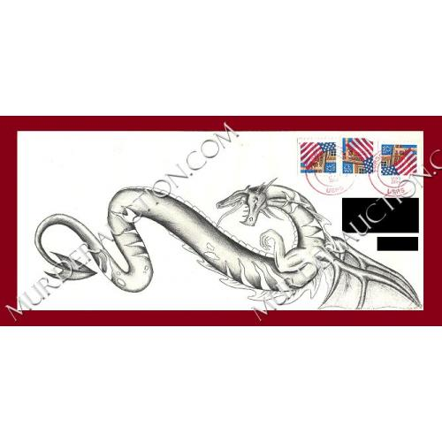 HAROLD SMITH letter/envelope with envelope artwork 11/22/1996