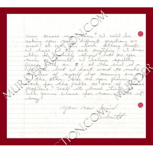 SCOTT COX letter/envelope 7/14/2003 PAROLED